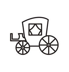 vintage carriageantique transport line vector image vector image