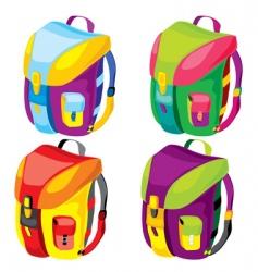 backpacks vector image