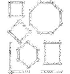 birch frames vector image vector image