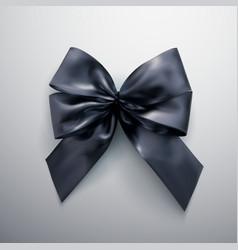 black bow and ribbons vector image vector image