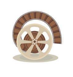 bobbin with film vector image