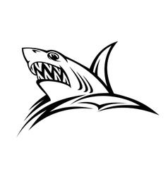 Danger shark tattoo vector image vector image