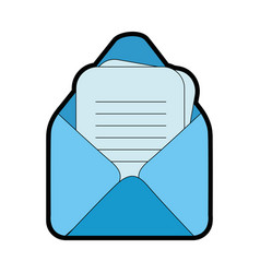 email isolated symbol vector image