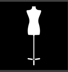fashion stand female torso mannequin icon vector image
