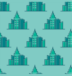 skyscrapers buildings seamless pattern tower vector image vector image
