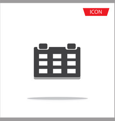 calendar icon on white background vector image