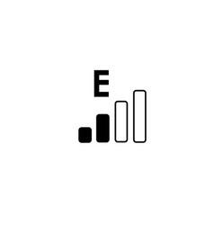 edge network icon vector image