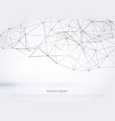 geometric polygonal mesh background design vector image