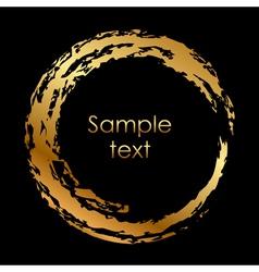 gold circle vector image