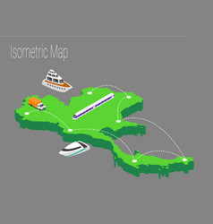map thailand isometric concept vector image