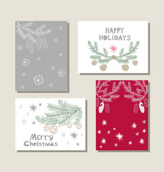 Set of christmas cards19 vector