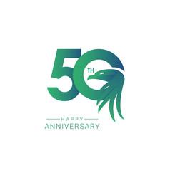 50 th anniversary bird model template design vector