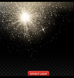 a falling shiny golden vector image