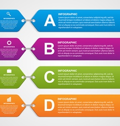 Abstract infographic options banner Design vector image