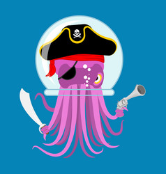 alien intruders space pirate octopus cosmic vector image