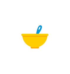 Baby meal icon flat element vector