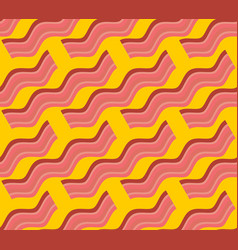 bacon roasted seamless pattern thin piece of meat vector image
