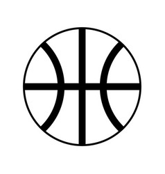 Basket ball isolated vector