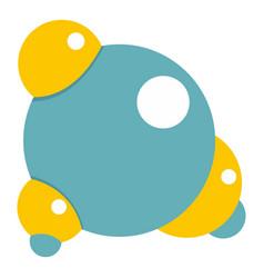 Blue molecule icon isolated vector