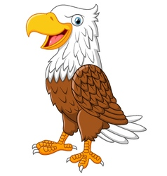 Cartoon eagle posing vector image
