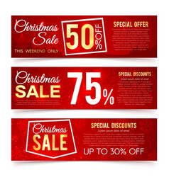 christmas sales banners winter and new vector image