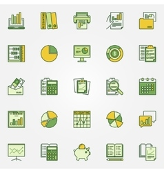 Colorful accounting icons vector