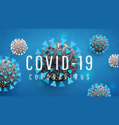coronavirus covid19 19 illness spreading in body vector image