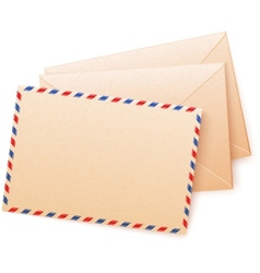 Craft paper envelops vector