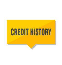 Credit history price tag vector