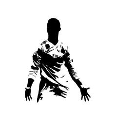 Cristiano ronaldo silhouette vector