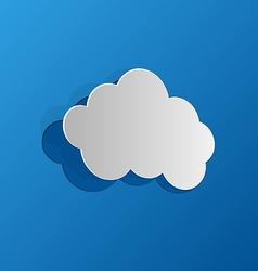 Cut out cloud blue paper vector image