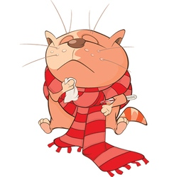 Cute Cat Cartoon Character vector