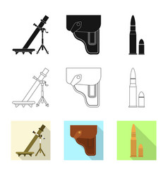 Design of weapon and gun logo collection vector