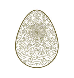 easter egg lace vector image