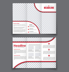 Esign folding flyer with space for photos for vector