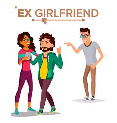 ex girlfriend couple lifestyle problem vector image