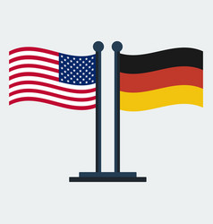 flag of united states and germanyflag stand vector image