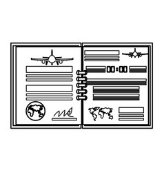 Flight log book vector