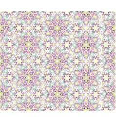 Flourish mosaic tiled pattern floral oriental vector