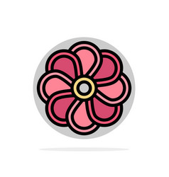 Flower nature plant spring abstract circle vector