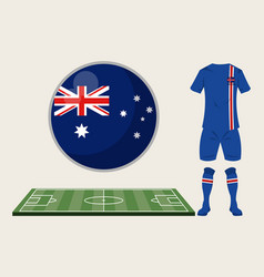 football iceland sport wear vector image