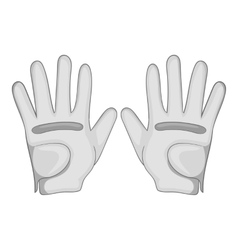 Golf gloves icon gray monochrome style vector image