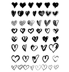 Hand drawn hearts vector