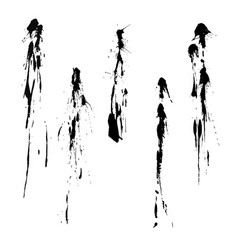 high quality set black splashes vector image