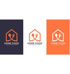 home food logo design vector image