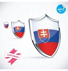 I Love Slovakia Flag vector image