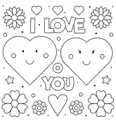 I Love You Page Heart Vector Images (47)