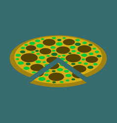 icon in flat design for restaurant pizza vector image
