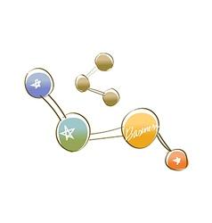 Icon molecule vector