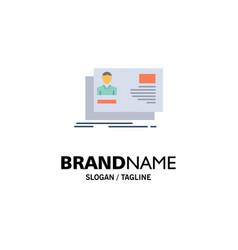 Id user identity card invitation business logo vector